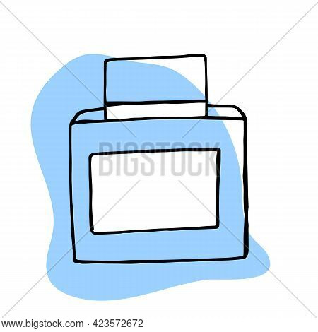 Perfume Bottle Vector In Doodle Style. Hand Drawn Perfume Outline Doodle Icon. Perfume Sketch Illust