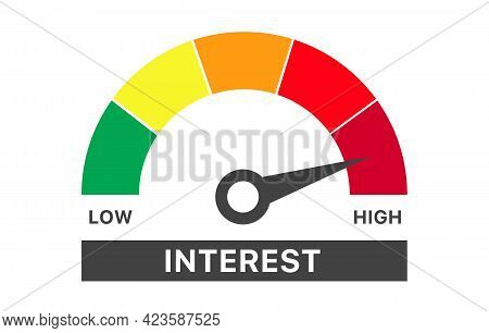 Illustration Template Featuring Low Interest Rate Measurement Scale
