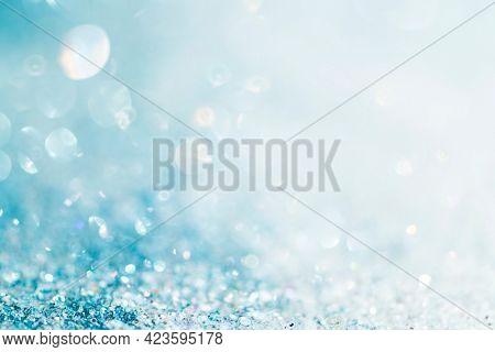 Light blue glittery textured background