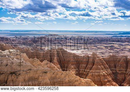 The Badlands National Park In South Dakota Usa