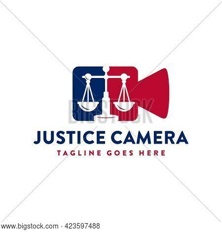 Justice Law Camera Illustration Logo Design Or Brand