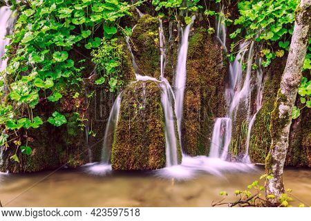 Waterfalls In Plitvice National Park, Croatia High Quality Image