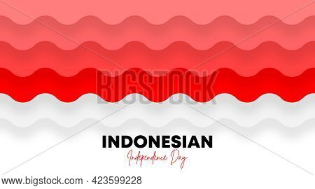 Indonesian independence day background illustration and web banner vector