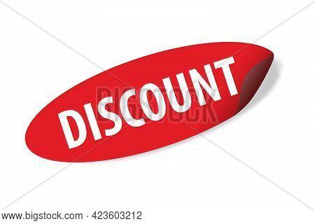 Discount Ellipse Sticker Vector Discount Banner For Graphic Design, Logo, Web Site, Social Media, Mo