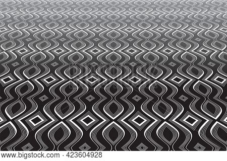Abstract op art background. Diminishing perspective view.