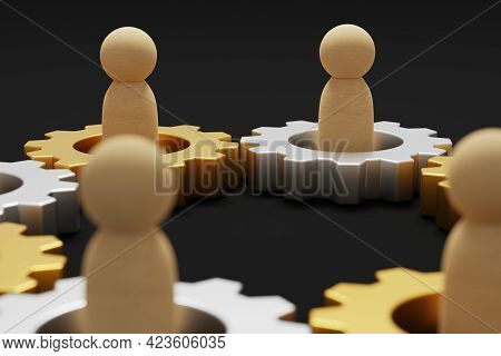 Merger And Acquisition Business Partnership, Join Company, Shareholder, Corporate Cooperation. Gear