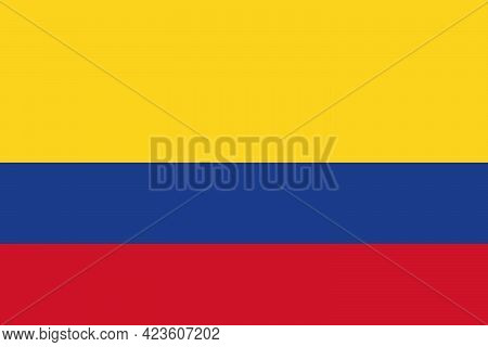 National Flag Of The Country Of Colombia. Republic Of Colombia Flag. State Symbol. National Holiday.