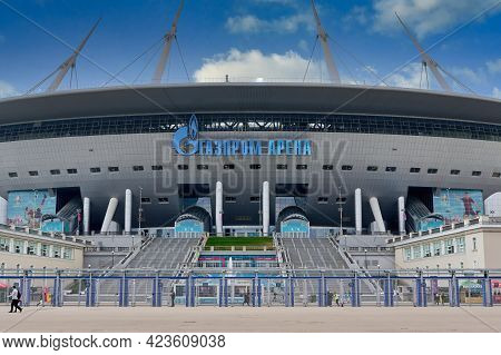 Zenit Stadium During The Euro 2020 Championship In St. Petersburg