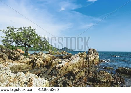 Scenery From The Famous Viewpoint Of Chao Lao Beach Named Lan Hin Krong In Chanthaburi Province, Tha