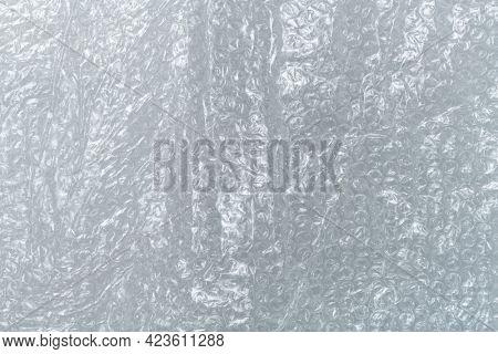 Plastic bubble wrap textured background