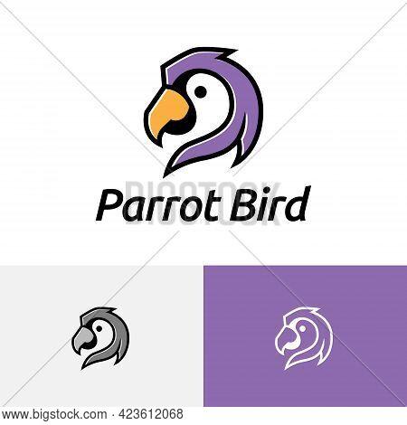 Beautiful Exotic Parrot Macaw Bird Head Wildlife Logo