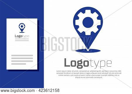Blue Car Service Icon Isolated On White Background. Auto Mechanic Service. Repair Service Auto Mecha