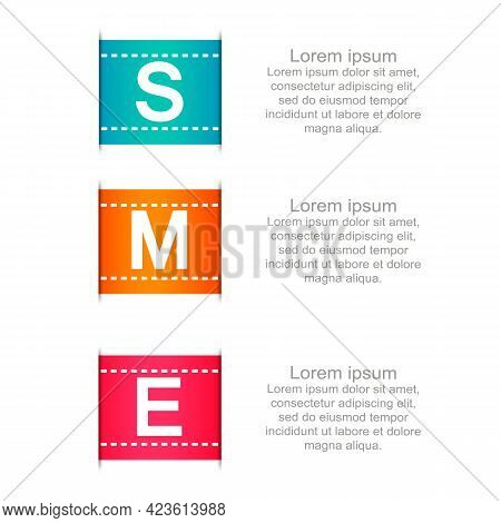 Sme, Small And Medium Enterprise, Word Lettering Illustration In Business Concept. Design In Modern
