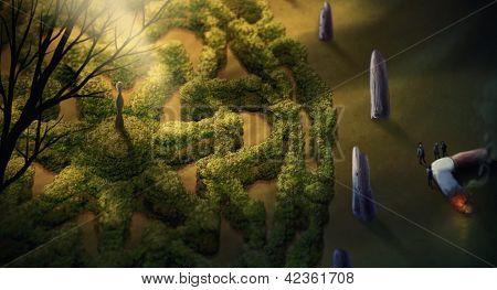 Garten Mandala digitale Malerei