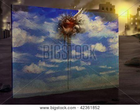 Vogel flog digitale Malerei