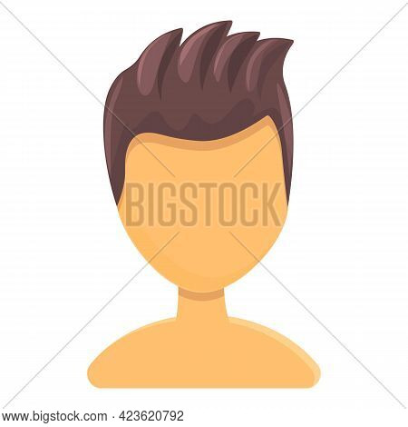 Fashionable Hairstyle Icon. Cartoon Of Fashionable Hairstyle Vector Icon For Web Design Isolated On