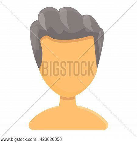 Stylish Haircut Icon. Cartoon Of Stylish Haircut Vector Icon For Web Design Isolated On White Backgr
