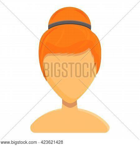 Elegant Hairstyle Icon. Cartoon Of Elegant Hairstyle Vector Icon For Web Design Isolated On White Ba