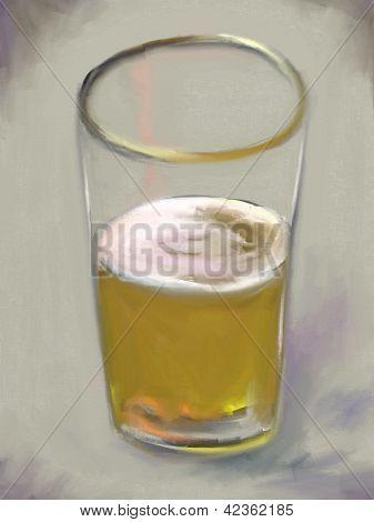 Pint Bier-stilleben-Malerei