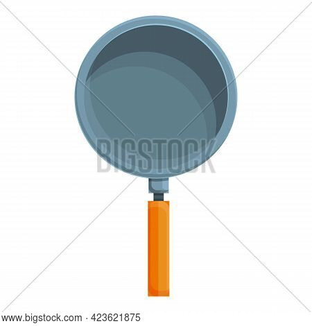 Camping Frying Pan Icon. Cartoon Of Camping Frying Pan Vector Icon For Web Design Isolated On White