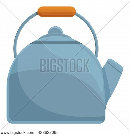 Camping Kettle Icon. Cartoon Of Camping Kettle Vector Icon For Web Design Isolated On White Backgrou