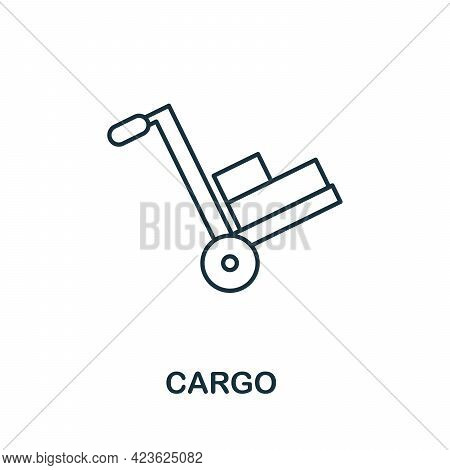 Cargo Line Icon. Simple Outline Illustration From E-commerce Collection. Creative Cargo Icon For Web