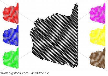 Clark County, State Of Washington (u.s. County, United States Of America, Usa, U.s., Us) Map Vector