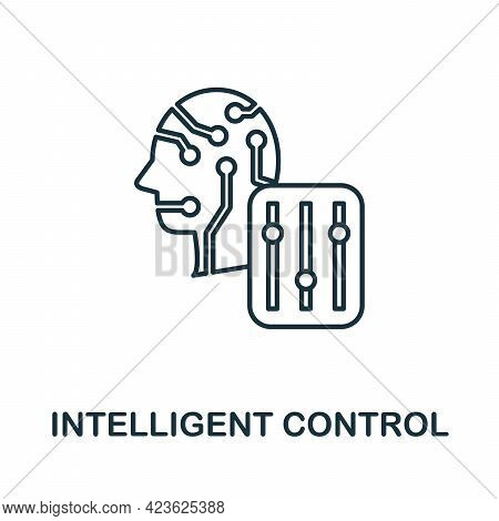 Intelligent Control Line Icon. Creative Outline Design From Artificial Intelligence Icons Collection