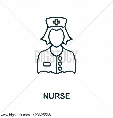 Nurse Line Icon. Thin Style Element From Medicine Icons Collection. Outline Nurse Icon