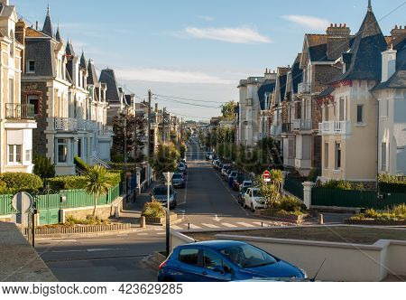 Saint-malo, France - September 16, 2018: Street In St Malo, Brittany, France