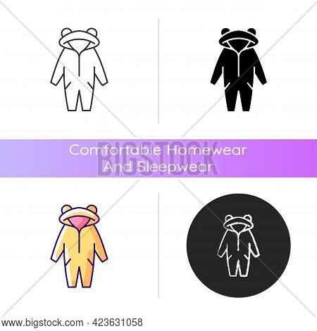 Kigurumi Icon. Funny Jumpsuit For Children. Halloween Tiger Costume For Kids. Comfortable Homewear A