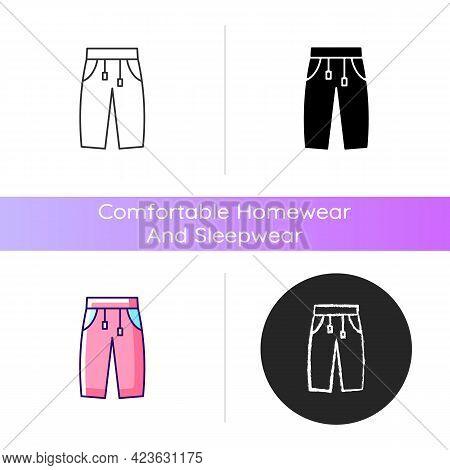 Sweatpants Icon. Women Pants. Trendy Men Trousers. Unixes Trackpants For Home Wear. Comfortable Home