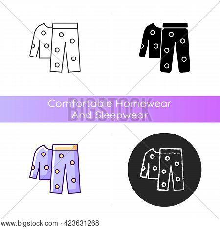 Fleece Pyjamas Icon. Children Sleepwear. Women Nightwear. Men Nightwear. Comfy Loungewear. Comfortab