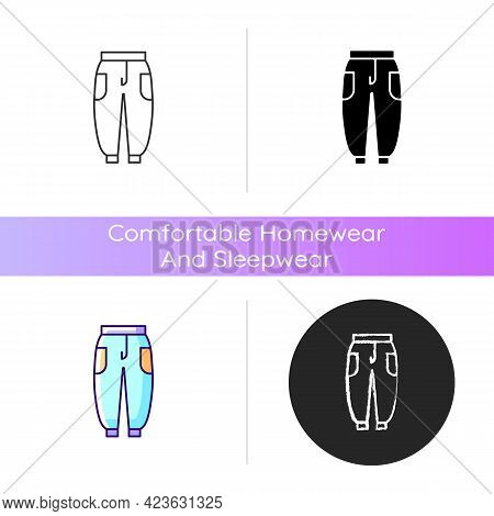 Joggers Icon. Trackpants For Women. Sweatpants For Men. Unisex Trousers. Sporty Outfit. Comfortable