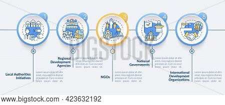 Society Progress Programs Vector Infographic Template. Ngos Presentation Outline Design Elements. Da