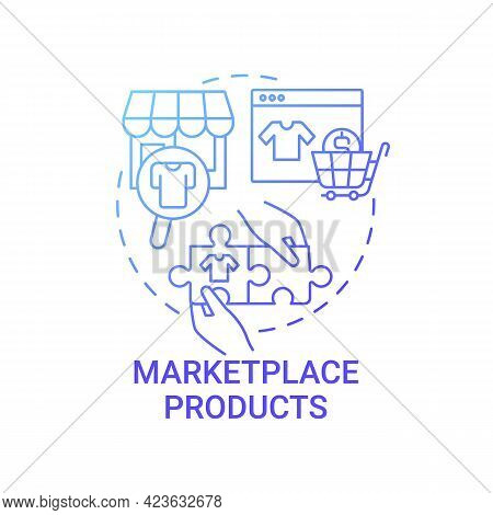 Marketplace Products Concept Icon. Choice Parameter Abstract Idea Thin Line Illustration. Providing