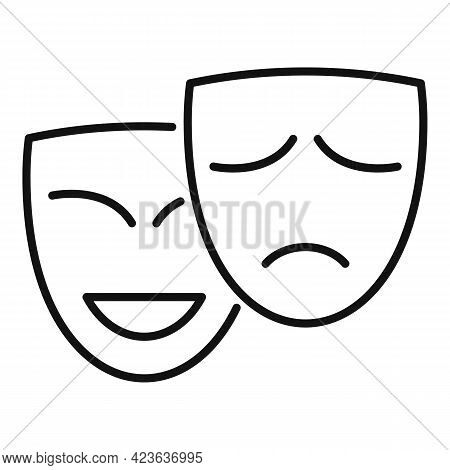 Duality Of Personality Icon. Outline Duality Of Personality Vector Icon For Web Design Isolated On W