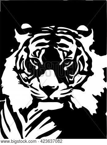 Tiger Vector On White Background , Wild Life, Wildcat, Wildlife, Zoo