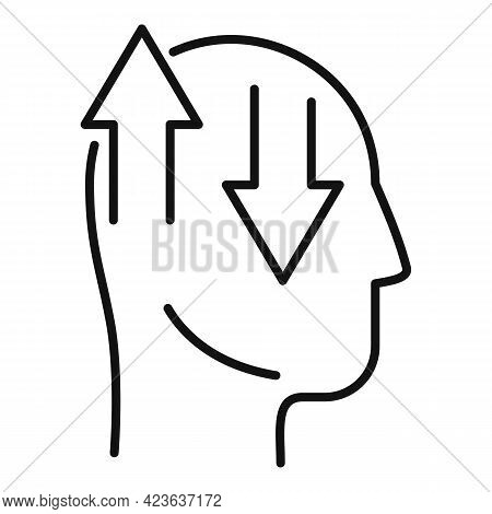 Mental Perception Icon. Outline Mental Perception Vector Icon For Web Design Isolated On White Backg