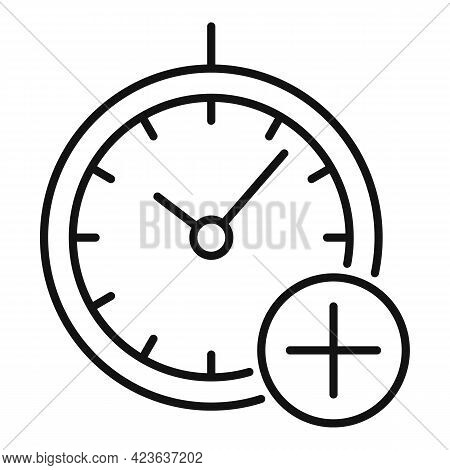 Time Psychological Therapy Icon. Outline Time Psychological Therapy Vector Icon For Web Design Isola
