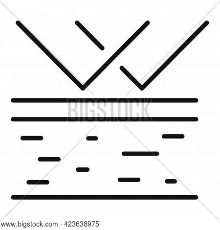 Destruction Of Skin Icon. Outline Destruction Of Skin Vector Icon For Web Design Isolated On White B