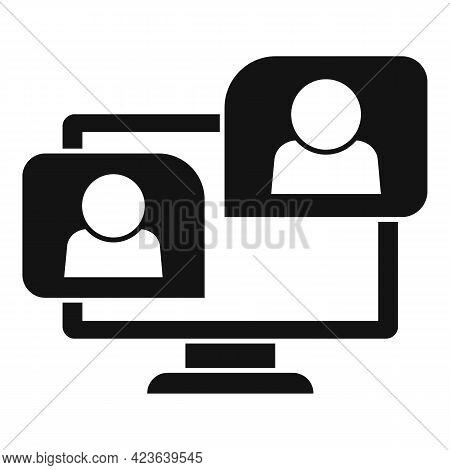 Study Online Meeting Icon. Simple Illustration Of Study Online Meeting Vector Icon For Web Design Is
