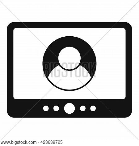Online Meeting Communication Icon. Simple Illustration Of Online Meeting Communication Vector Icon F