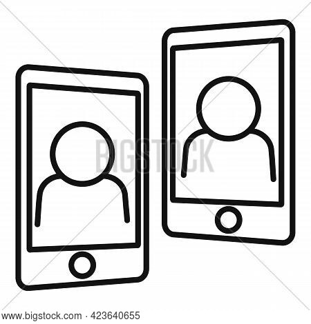 Phone Consultation Meeting Icon. Outline Phone Consultation Meeting Vector Icon For Web Design Isola