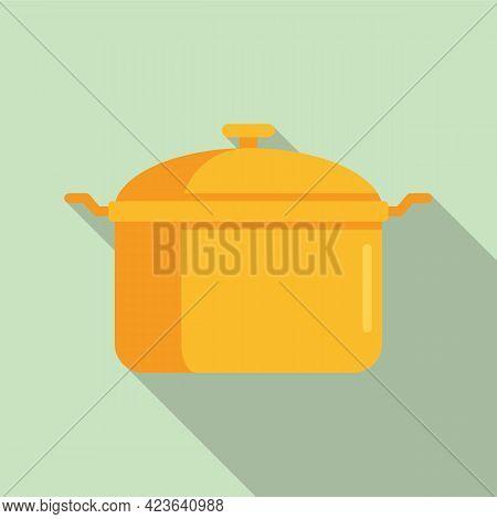 Saucepan Icon. Flat Illustration Of Saucepan Vector Icon For Web Design