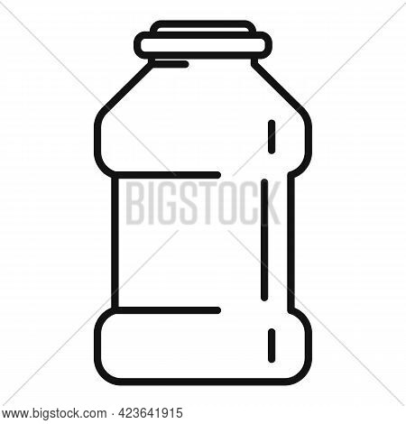 Ketchup Bottle Icon. Outline Ketchup Bottle Vector Icon For Web Design Isolated On White Background