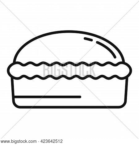 Homemade Bread Icon. Outline Homemade Bread Vector Icon For Web Design Isolated On White Background