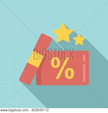 Bonus Gift Box Icon. Flat Illustration Of Bonus Gift Box Vector Icon For Web Design