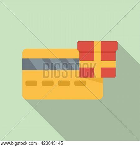 Bonus Credit Card Icon. Flat Illustration Of Bonus Credit Card Vector Icon For Web Design