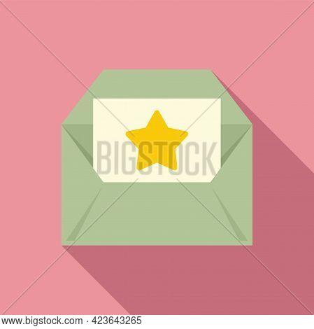 Bonus Envelope Icon. Flat Illustration Of Bonus Envelope Vector Icon For Web Design